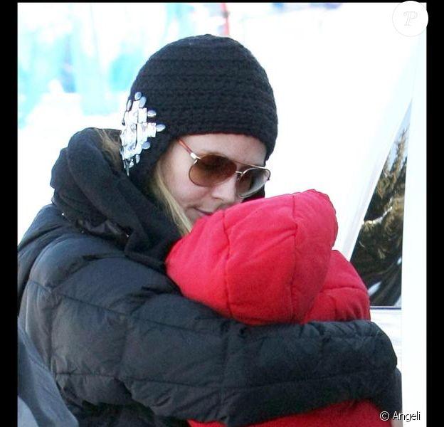 Heidi Klum et sa petite Lou à Aspen le 19/12/09