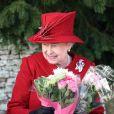 La reine Elizabeth II célébrait hier Noël à l'église de St Mary Magdalene, en famille.