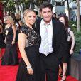 Charlie Sheen et sa femme Brooke Mueller aux Emmy Awards en septembre 2009