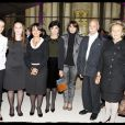 """Rachida Dati avec sa famille, Bernadette Chirac pour la grande soirée de son association """"C'est à Vous"""""""
