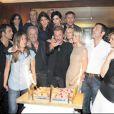 Rachida Dati à l'anniversaire de Johnny en juin 2009