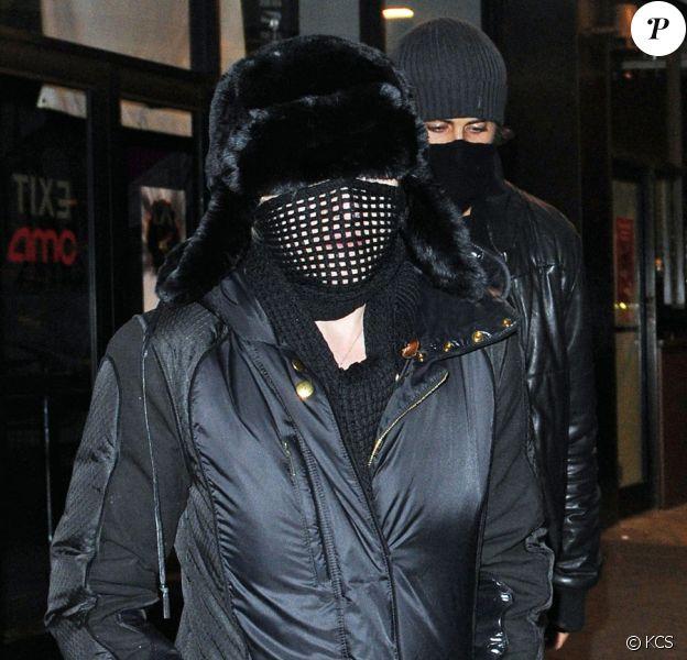 Madonna et Jesus Luz en mode Dark Vador à New York, le 6 janvier 2010