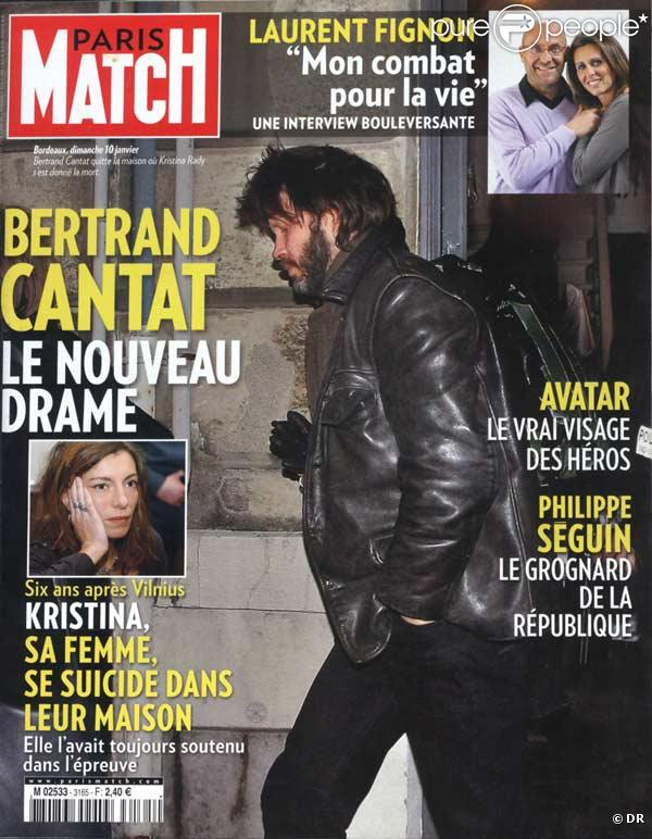bertrand cantat en couverture de paris match. Black Bedroom Furniture Sets. Home Design Ideas