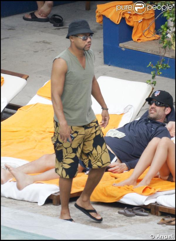 Cuba Gooding Junior a bien l'intention de profiter de ses vacances, incognito.
