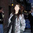 Charlotte Gainsbourg était l'invitée de David Letterman pour faire la promo de son album IRM, le 18 janvier 2010 à New York
