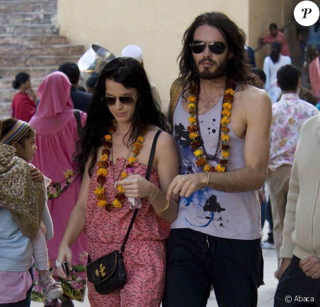 Katy Perry et Russell Brand durant leur séjour en amoureux en Inde