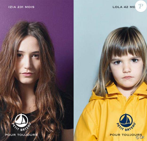 Izia Higelin est la nouvelle ambassadrice de Petit Bateau, et se prête superbement à la Campagne des mois...