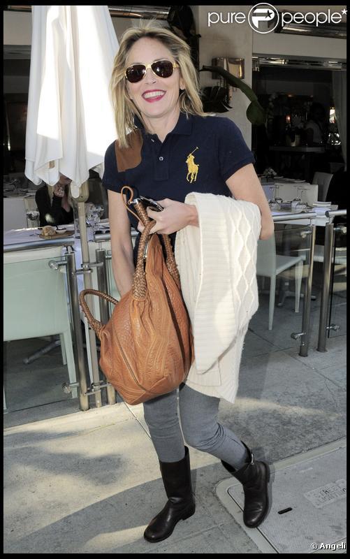 Sharon Stone à Beverly Hills, le 27 janvier 2010