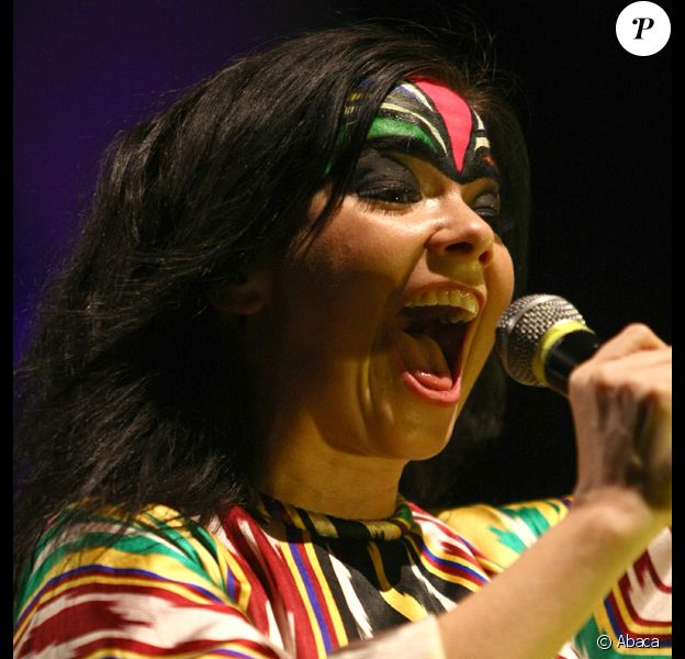 Björk lors de son concert à Shangaï