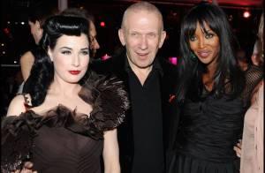 Jean-Paul Gaultier épaulé par Naomi Campbell et Dita Von Teese, PPDA et les plus grands ont sorti le grand jeu...