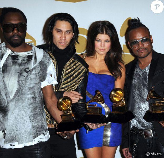 Les Black Eyed Peas, lauréats lors des Grammy Awards le 31 janvier 2010