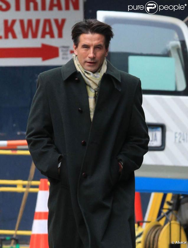 William Baldwin se promène après avoir tourné une scène pour Gossip Girl à New York le 2 février 2010