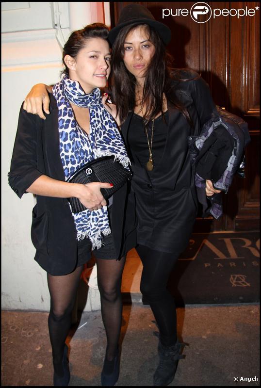 Mylène Jampanoï et Emma de Caunes à la soirée Nosylis le 4 février 2010