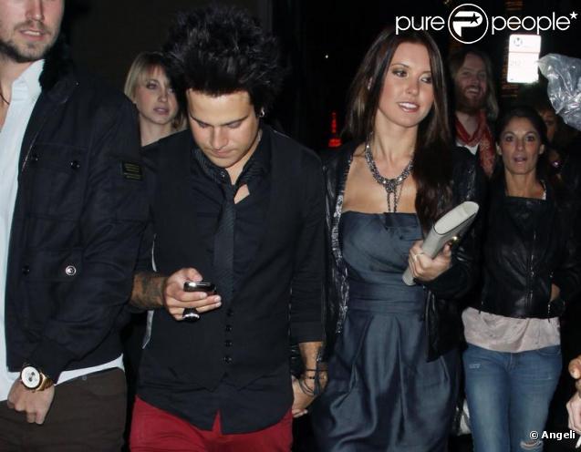 Audrina Patridge et son nouvel ami Ryan Cabrera se rendent à l'ouverture du bar TheDelphine Eatery and Bar à Los Angeles le 12 février 2010