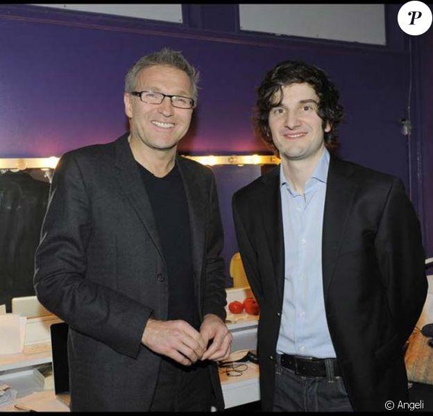 Laurent Ruquier et Gaspard Proust pour le spectacle Enfin sur scène ? de Gaspard Proust, au Studio des Champs-Elysées, le 18 février 2010 !