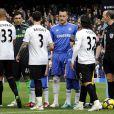 John Terry, snobé par Wayne Bridge lors de la présentation des équipes du match Chelsea-Manchester City