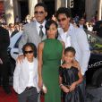Will Smith avec sa femme Jada Pinkett Smith avec leurs enfants à Los Angeles en juin 2008