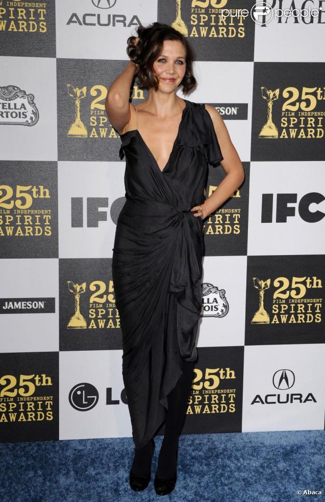 Maggie Gyllenhaal aux Spirit Awards, à Los Angeles, le 05/03/2010.