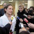 Chantal Jouanno, secrétaire d'Etat à l'Ecologie et nouvelle championne de France de karaté-kata le dimanche 7 mars 2010