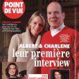 Albert et Charlene en couverture de Point de Vue