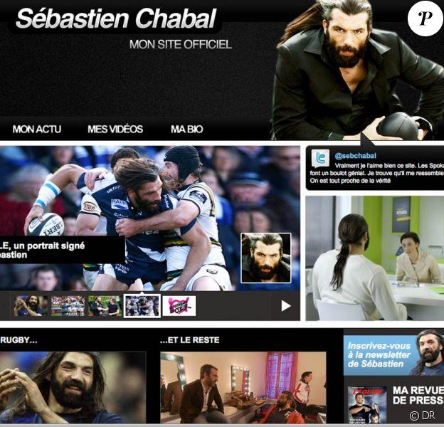 Sébastien Chabal a lancé son site Internet officiel le 11 mars 2010