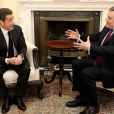 Nicolas Sarkozy reçu au 10 Downing Street par Gordon Brown, le 12 mars 2010