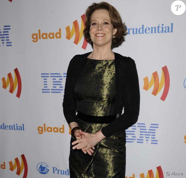 Sigourney Weaver à la 21e cérémonie des Glaad Awards, à New York, le 13 mars 2010 !