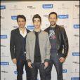 Pascal Elbé, Samir Makhlouf et Roshdy Zem à l'avant-première du film tête de Turc au cinéma Publicis sur les Champs-Elysées à Paris le 22 mars 2010