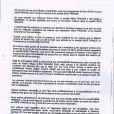 Lettre de démission Geneviève de Fontenay