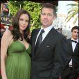 Angelina Jolie et Brad Pitt à Cannes en 2008, Angie était enceinte des jumeaux Knox et Vivienne