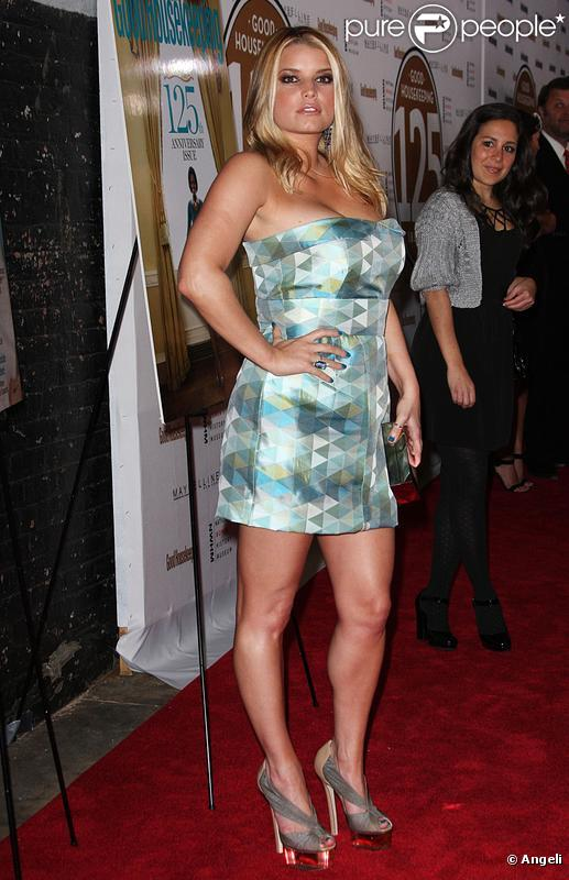 Jessica Simpson lors de la soirée Shine On à New York le 12 avril 2010