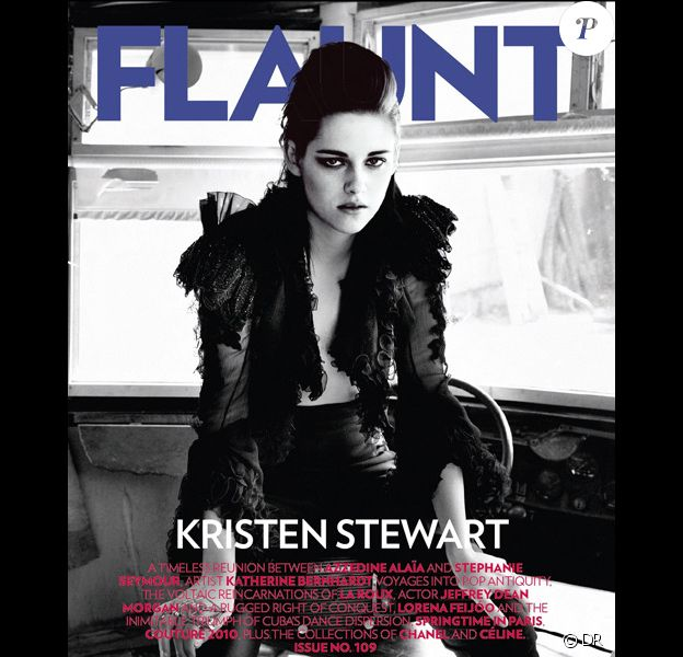 Kristen Stewart en couverture du magazine Flaunt