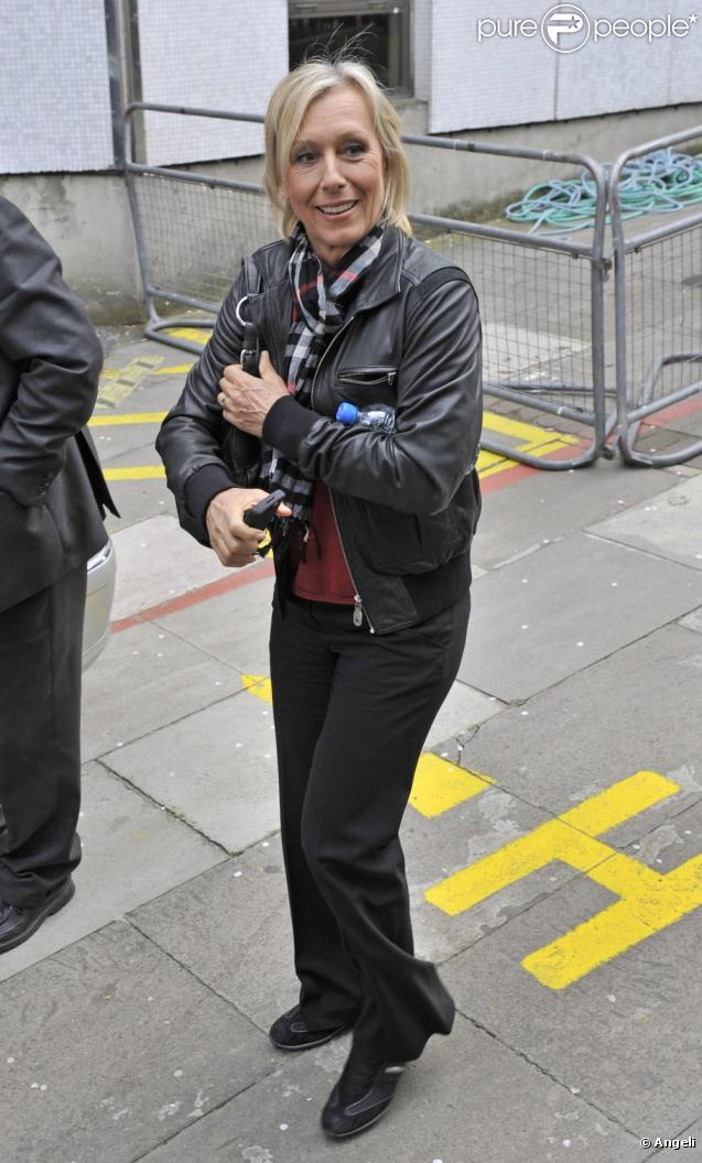 Martina Navratilova à Londres le 15 avril 2010
