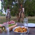 Freddy et Coumba savourent le repas gagné lors de l'épreuve de confort !