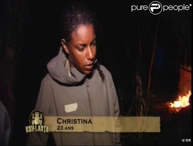 Christina est éliminée