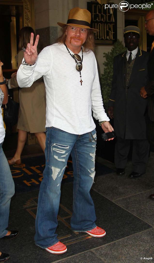 Axl Rose à New York, le 22 avril 2010 !