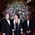La princesse Caroline de Monaco, le 29 avril 2010, présidait avec le soutien de son frère le prince Albert et le secrétaire général de l'Amade Francis Kasasa le gala de bienfaisance de l'Amade, à l'Hôtel de Paris, à Monaco.