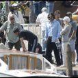 Angelina Jolie et Johnny Depp sur le tournage de The Tourist à Venise le 2 mai 2010