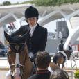 Charlotte Casiraghi sur son cheval Troy lors du Global Champions Tour à Valence, le 7 mai 2010