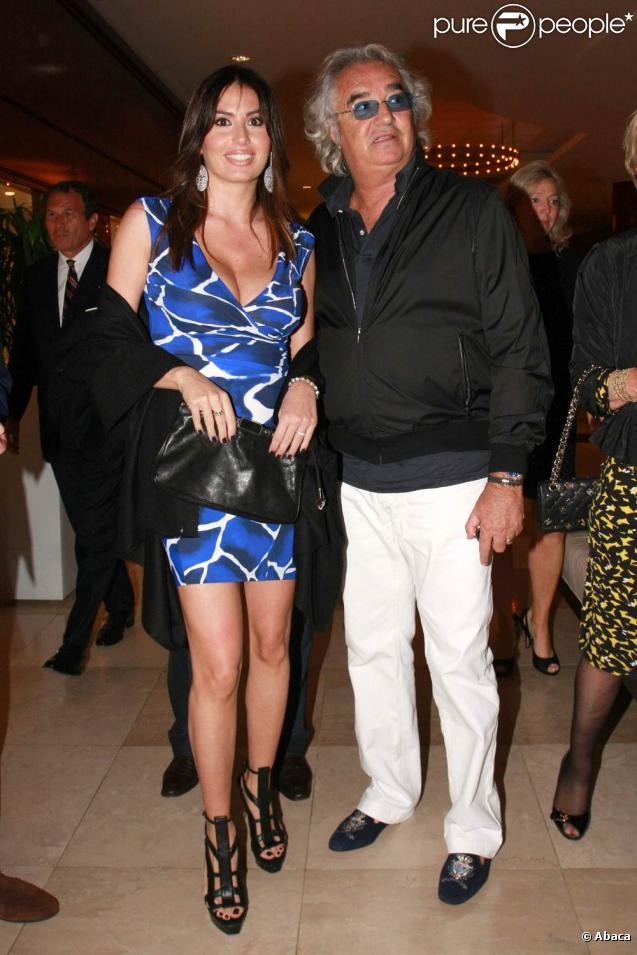 Flavio Briatore et sa femme Elisabetta Gregoraci au Billionaire Club événementiel à Monaco, le 13 mai 2010