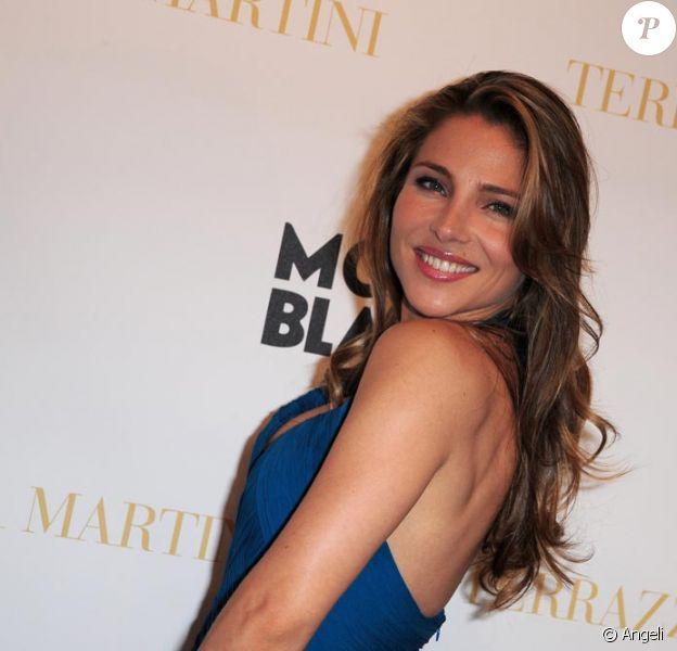 Elsa Pataky lors de la soirée Montblanc à la terrasse Martini. A Cannes le 14 mai 2010.