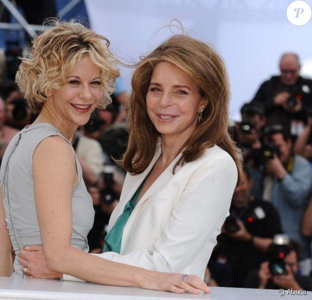 Meg Ryan et la reine Noor de Jordanie lors du photocall Countdown to Zero, au Festival de Cannes, le 16 mai 2010
