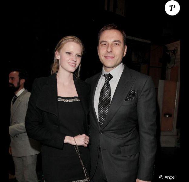 Lara Stone et David Walliams
