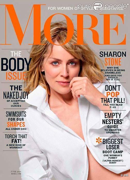 Sharon Stone en couverture de More