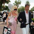 Angie de Secret Story, bien accompagnée... A Cannes.
