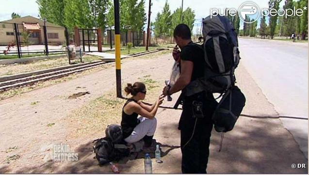 Tensions entre Frédéric et Jessica (Pékin Express, 25 mai 2010)