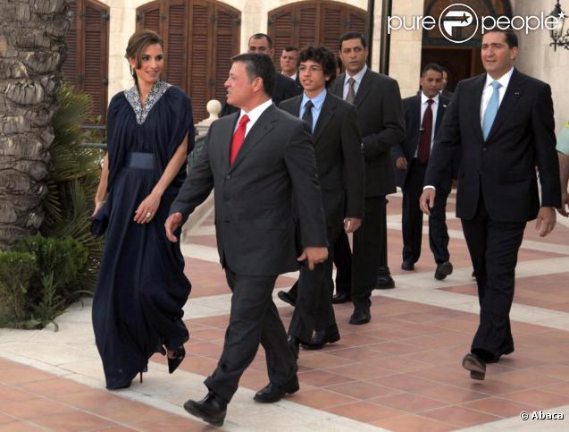 Rania de Jordanie et son époux le roie Abdullah II lors de la fête d'indépendance de la Jordanie. Le 25 mai 2010