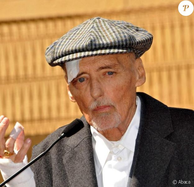 Dennis Hopper reçoit son étoile sur le Walk of Fame, le 26 mars 2010. Los Angeles