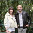 Laurent Fignon et sa femme Valérie à Roland-Garros. Week-end du 29/30 mai 2010