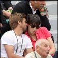 Les tourtereaux Nolwenn et Arnaud à Roland-Garros. 30/05/2010